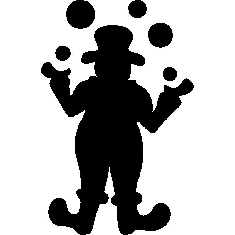 800x800 Sticker Clown Silhouette Stickers Clown Et Cirque