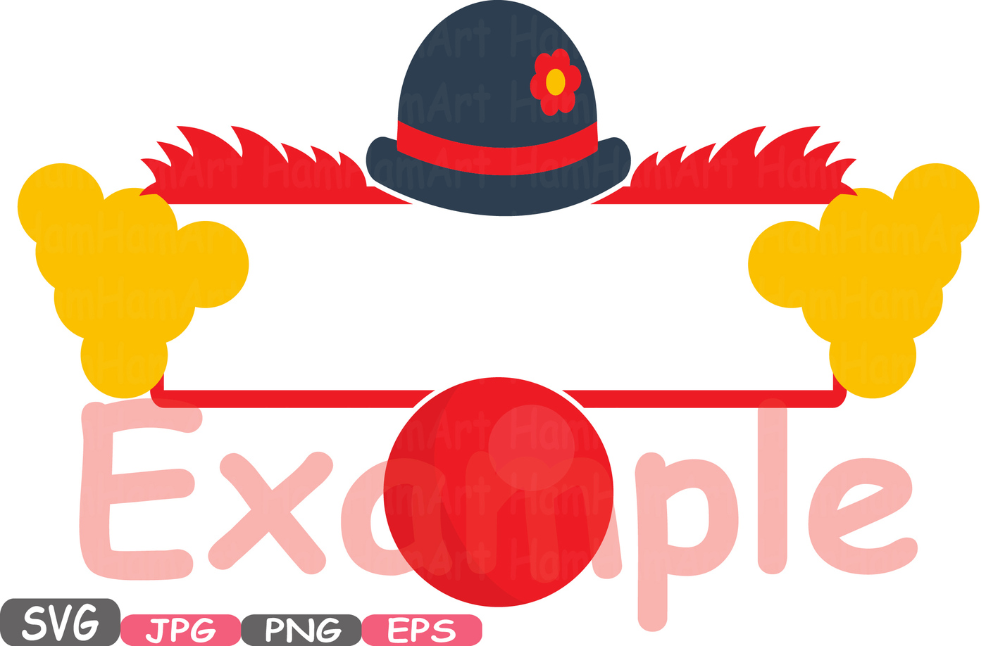 1400x918 Circus Split Clown Clipart Svg Silhouette Cutting Files Split