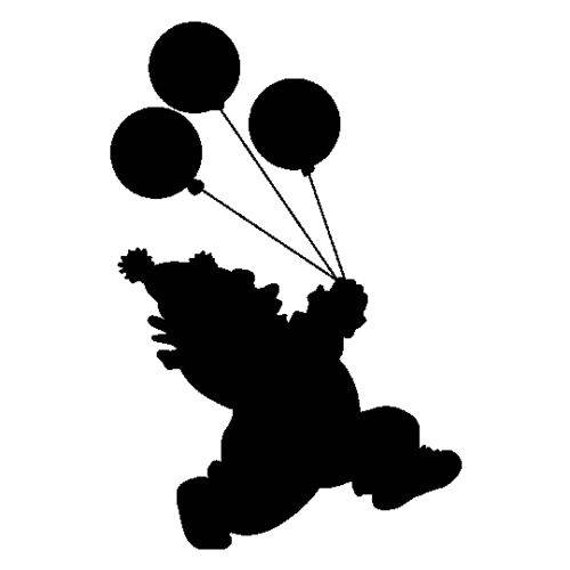 570x570 Clown Balloons Silhouette Door Sticker Decal Funny Humour