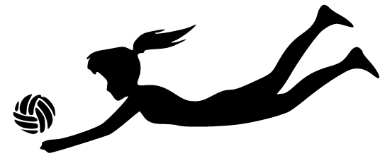 543x231 Melanie's Crafting Spot Silhouette Volleyball Player Getting