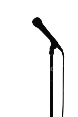 253x380 Microphone Silhouette Clipart