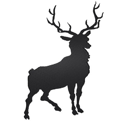 394x400 Deer Silhouette Embroidery Design Annthegran