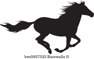 Clydesdale Horse Silhouette