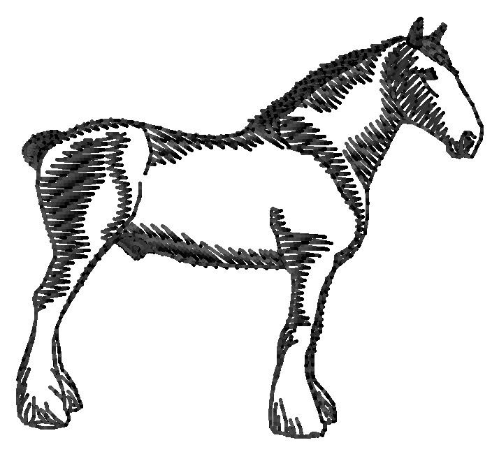 714x650 Clydesdale Silhouette Embroidery Design From Grand Slam Designs