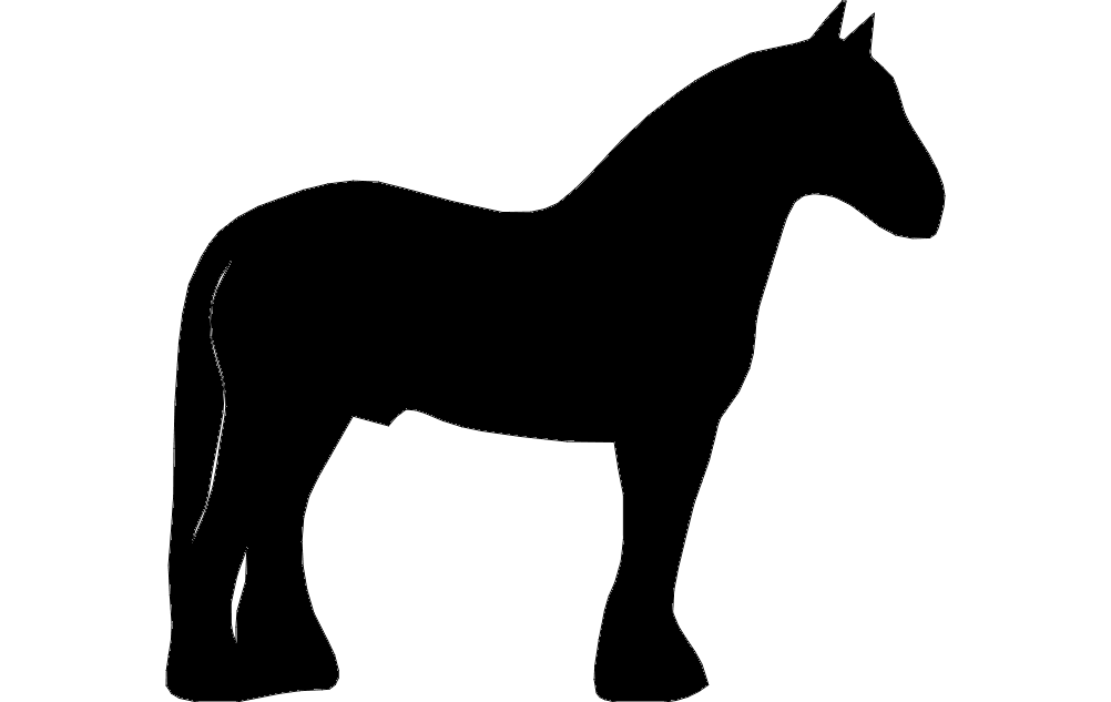 1002x633 Clydesdale Dxf File Free Download