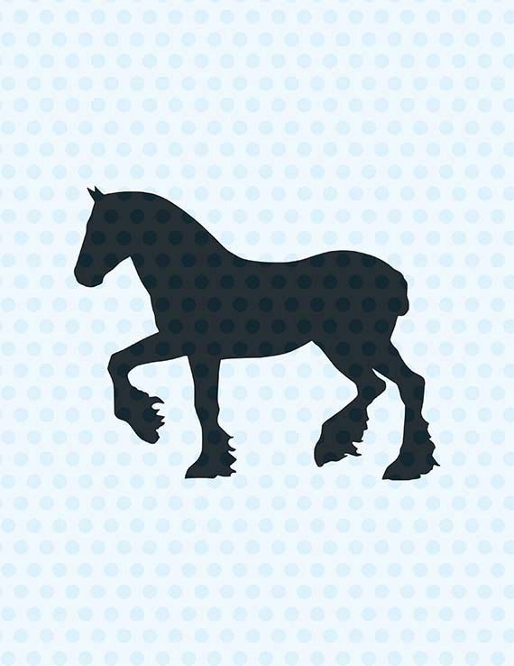 570x738 Horse Svg, Clydesdale Horse Svg, Svg Files From Ltcreativestudio