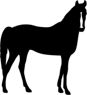 176x193 Thoroughbred Horse Silhouette Sticker