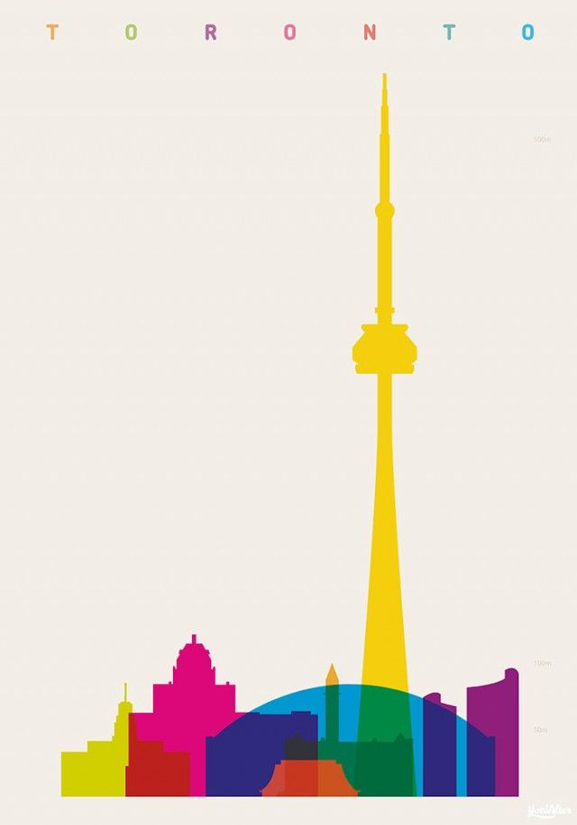 640x914 Shapes Of Cities Illustrations Cn Tower, Tower And Shapes