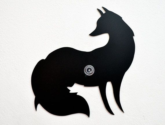 570x433 Fox Silhouette Wall Hook Coat Hook Key Hanger Fox