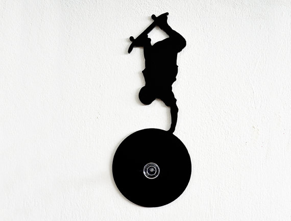 570x433 Skateboarding Silhouette Wall Hook Coat Hook Key Hanger