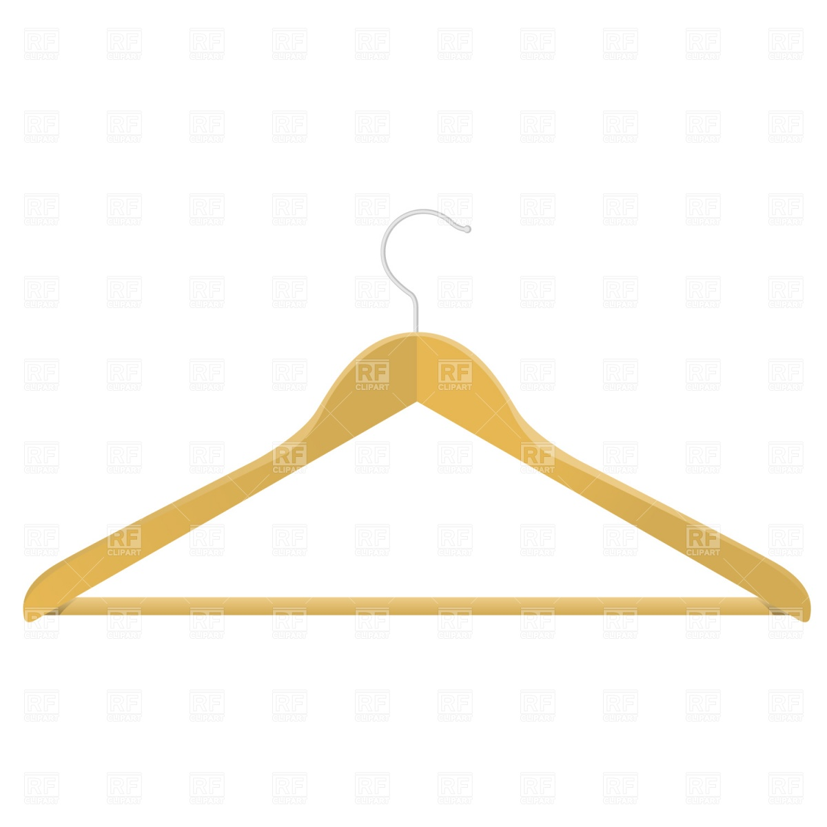 1200x1200 Wooden Clothes Hanger Royalty Free Vector Clip Art Image