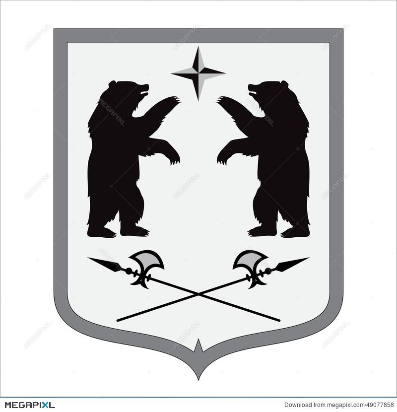 800x830 Coat Of Arms. Bear Shape. Illustration Illustration 49077858