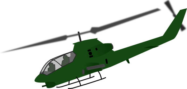 Cobra Helicopter Silhouette