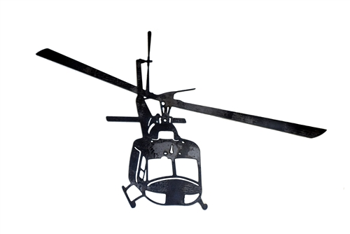 500x334 Huey Helicopter Silhouette Plasma Cutting And Silhouettes