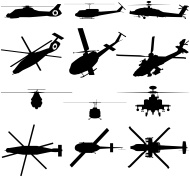 190x177 Huey Helicopter Vector