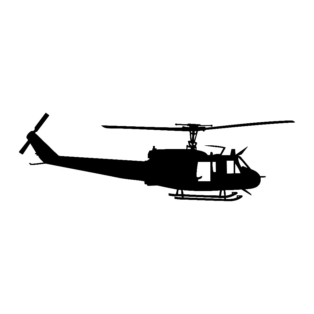 1024x1024 Huey Uh 1 Helicopter Vinyl Decal V1