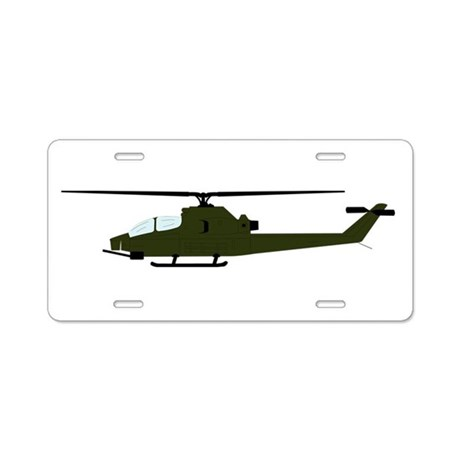 460x460 Ah 1 Huey Cobra Silhouette Aluminum License Plate By