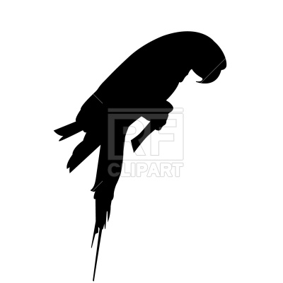 400x400 Parrot Silhouette Royalty Free Vector Clip Art Image