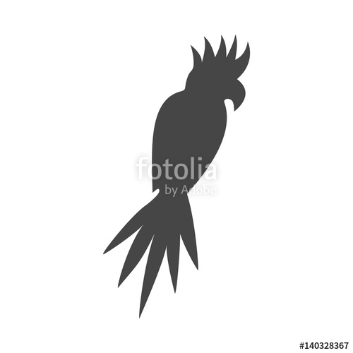 500x500 Vector Cockatoo Silhouette Icon Stock Image And Royalty Free
