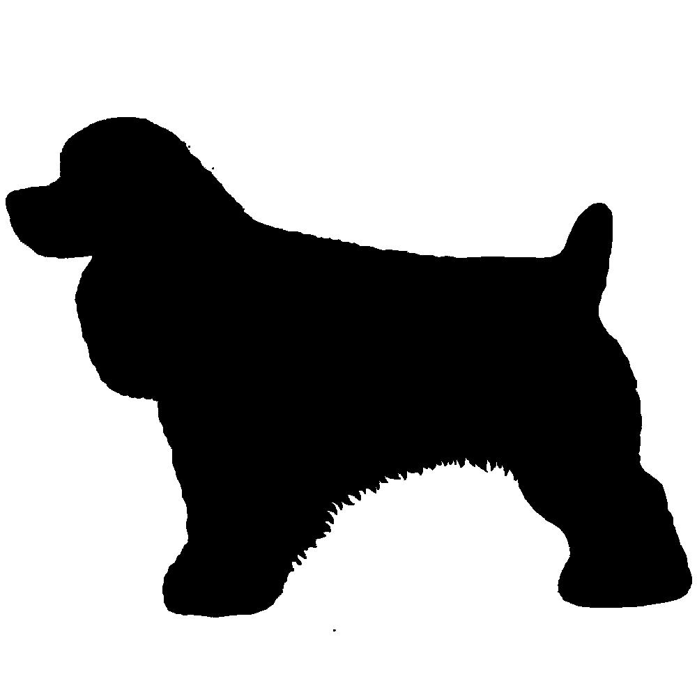 1000x1000 7al Cocker Spaniel Black Silhouette Imprinted On A Peerless 43