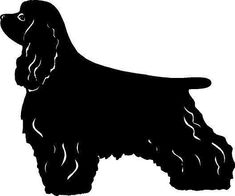 235x196 Cocker Spaniel Silhouette Wall Art Poster Puppy (And Doggie