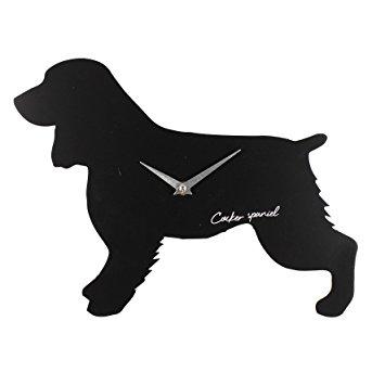 355x355 Best Of Breed Dog Cut Out Silhouette Quartz Wall Clock Cocker