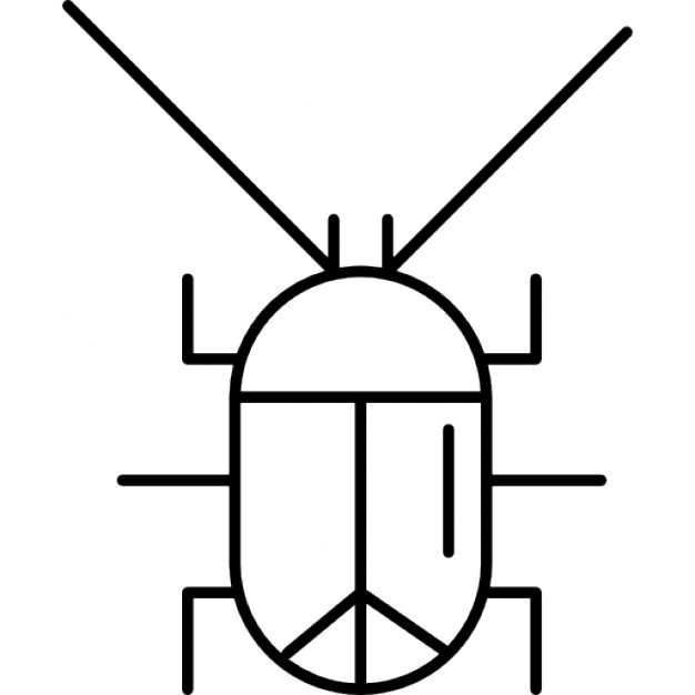 626x626 Cockroach Silhouette Icons Free Download