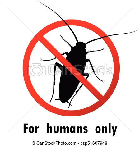 450x470 Cockroaches And Stop Cockroach Sign Symbols Vector Design Eps