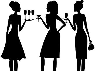 Cocktail Party Silhouette