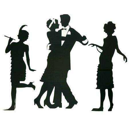 450x450 Guys And Dolls Silhouettes Kit Roaring 20's Great Gatsby Prom
