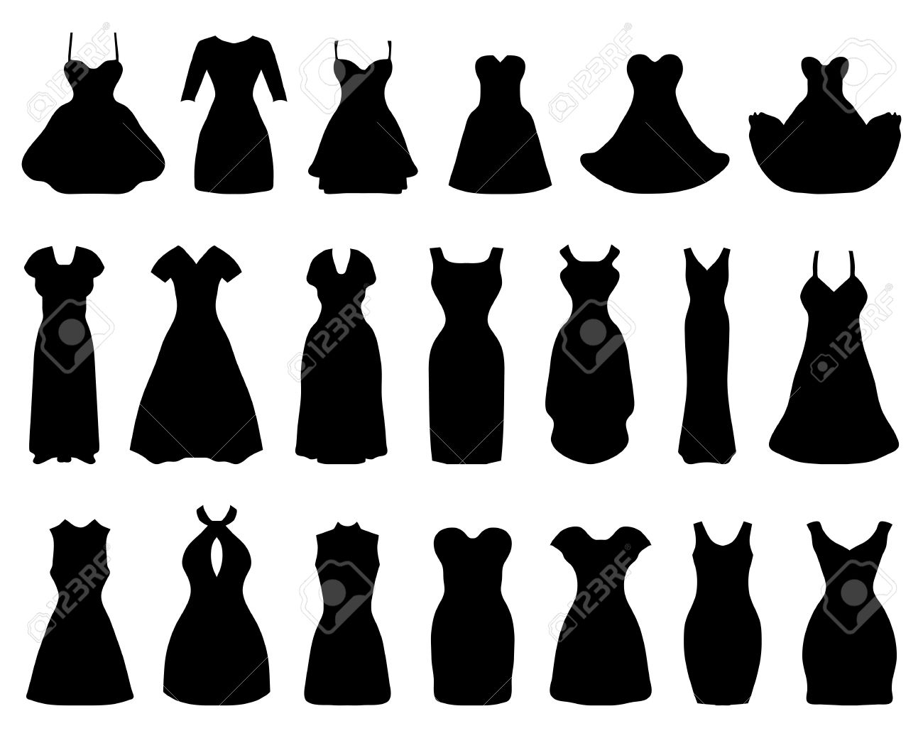 1300x1040 Black Dress Clipart Cocktail Dress