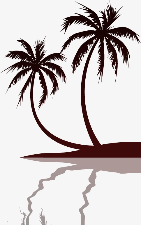 484x770 Great Coconut Trees Silhouette, Great, Coco, Sketch Png And Vector
