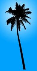 124x235 Palm Tree Silhouettes Stock Vectors