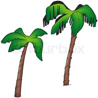 320x320 Coconut Palm Tree Silhouette