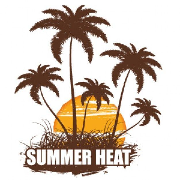626x626 Hot Summer Coconut Tree Silhouette Summer Tree