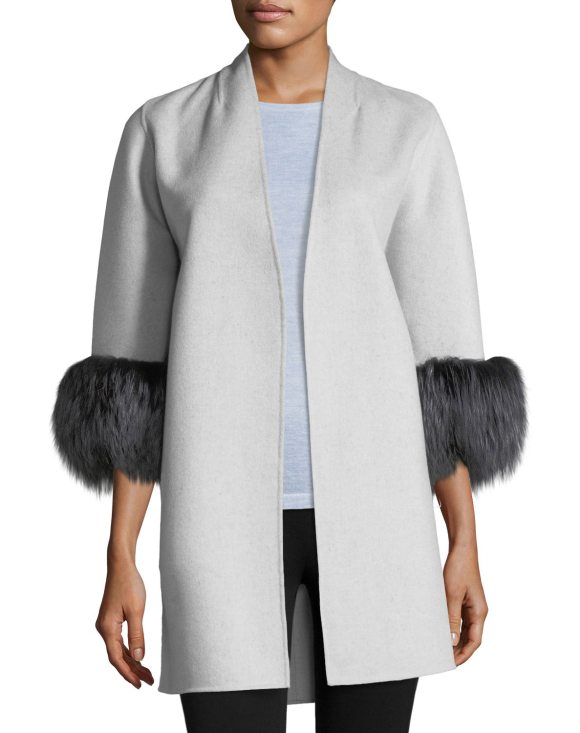 580x733 Neiman Marcus Cashmere Collection Luxury Cashmere Cocoon Jacket W
