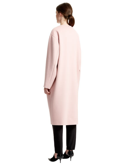 433x570 Reversible Angora Wool Cocoon Coat, Powder