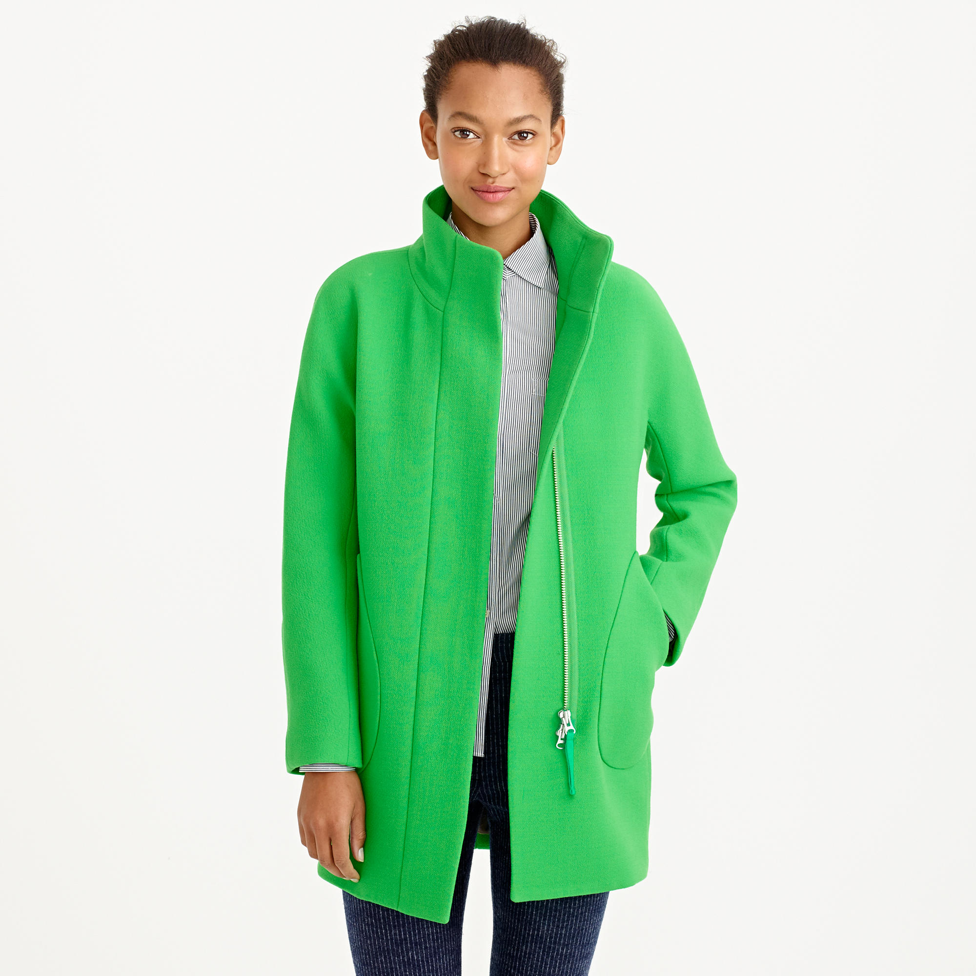 2000x2000 Double Cloth Patch Pocket Cocoon Coat Wool J.crew
