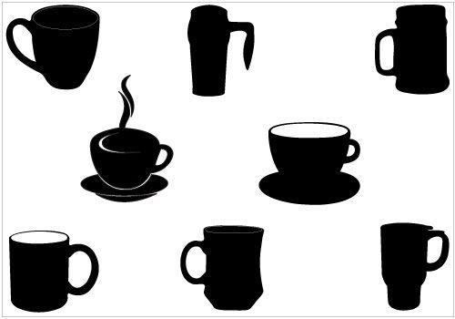 500x350 Coffee Mug Silhouette Download Coffee Mug Vectors Clip Art