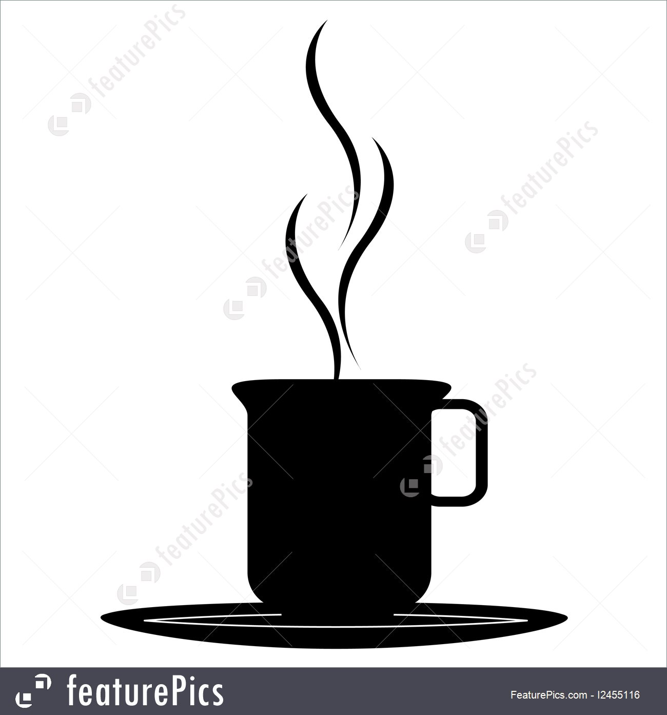 1300x1392 Coffee Cup Silhouette Illustration