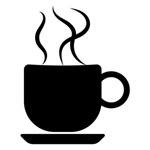 300x300 Coffee Cup Silhouette Optimized Clipart, Cliparts Of Coffee Cup