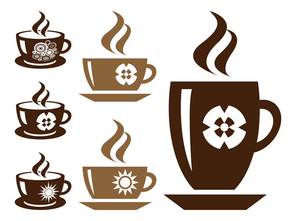 1024x765 Coffee Cups Silhouette Set Vector Art Amp Graphics