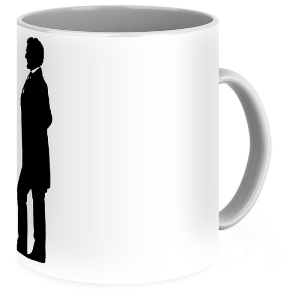 575x600 Lincoln Silhouette And Signature Coffee Mug For Sale By War Is