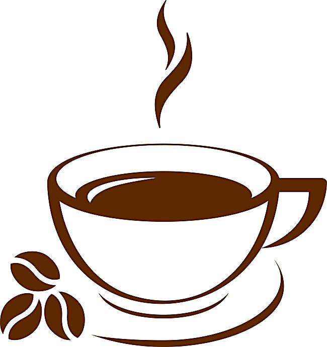 650x690 Coffee Silhouette Background, Coffee, Sketch, Material Background