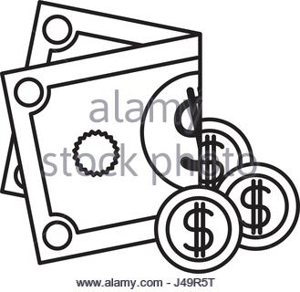 329x320 Money Silhouette Icon. Coins Vector Illustration In Flat Style