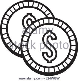 309x320 Silhouette Metal Coins Money Save Stock Vector Art Amp Illustration