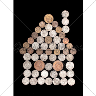325x325 Car Symbol Silhouette Of Coins Gl Stock Images