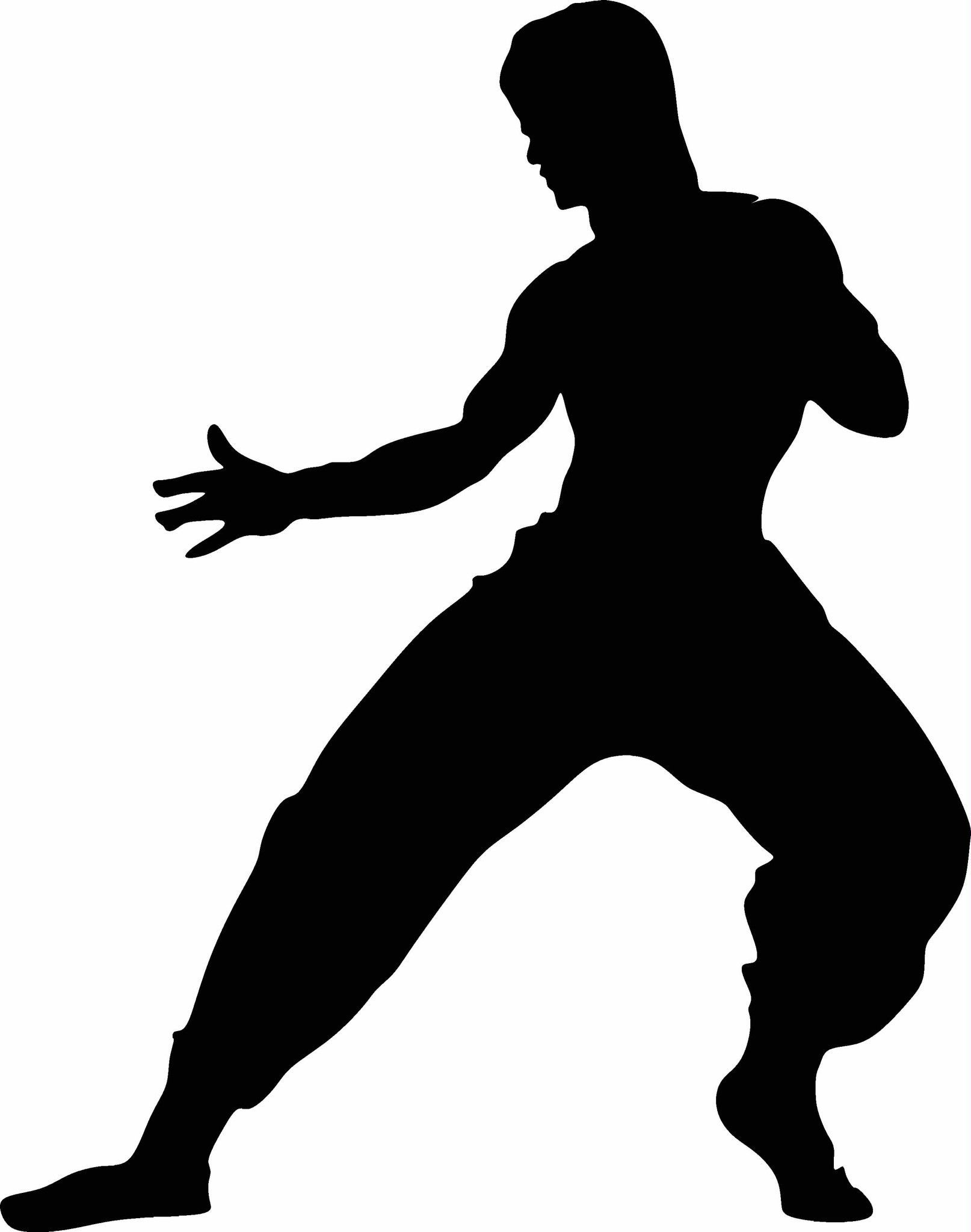 1614x2048 Bruce Lee Silhouette Vinyl Decal Graphic