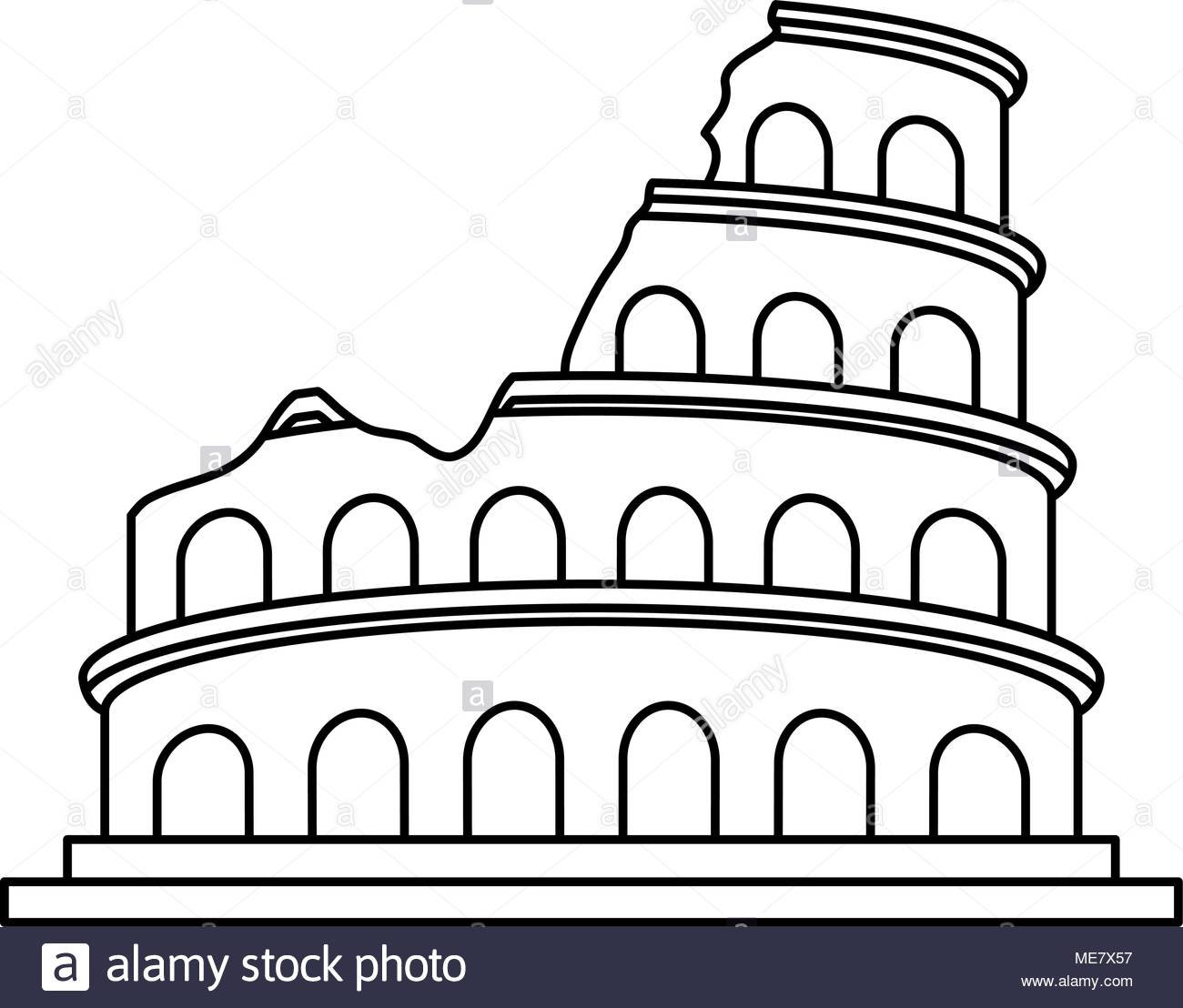 1300x1108 Coliseum Black And White Stock Photos Amp Images