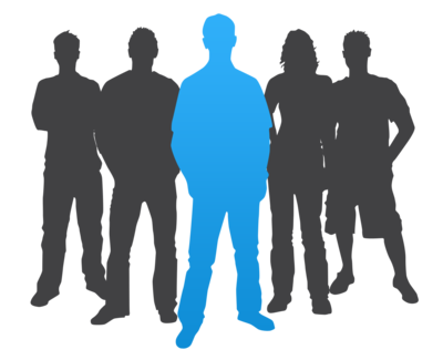 400x325 College Student Silhouette Man Leader Casual Silhouette 400 Wht1